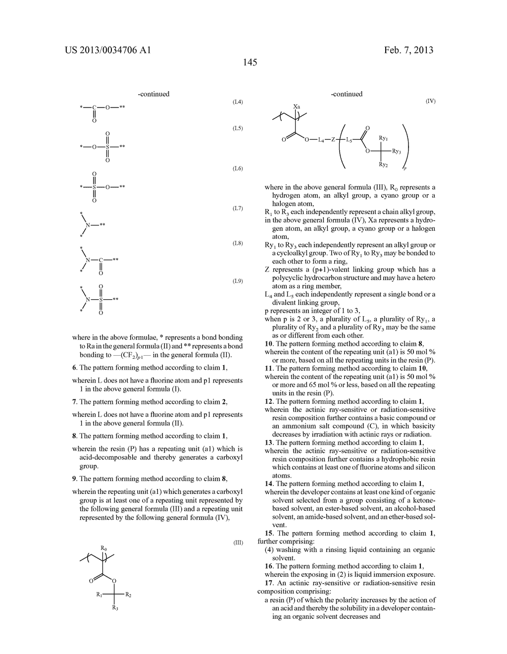 PATTERN FORMING METHOD, ACTINIC RAY-SENSITIVE OR RADIATION-SENSITIVE RESIN     COMPOSITION, RESIST FILM, PRODUCTION METHOD OF ELECTRONIC DEVICE, AND     ELECTRONIC DEVICE - diagram, schematic, and image 150