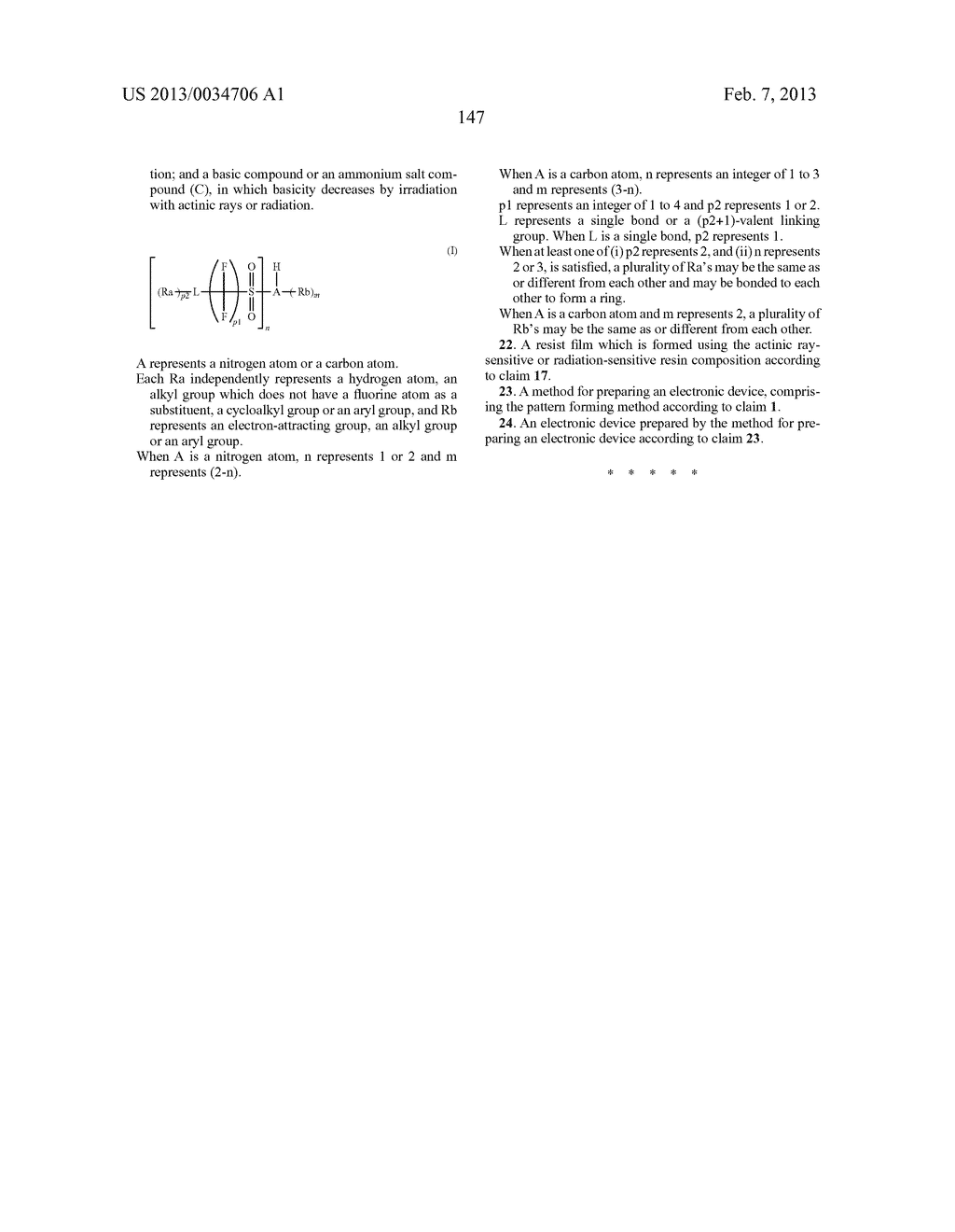 PATTERN FORMING METHOD, ACTINIC RAY-SENSITIVE OR RADIATION-SENSITIVE RESIN     COMPOSITION, RESIST FILM, PRODUCTION METHOD OF ELECTRONIC DEVICE, AND     ELECTRONIC DEVICE - diagram, schematic, and image 152