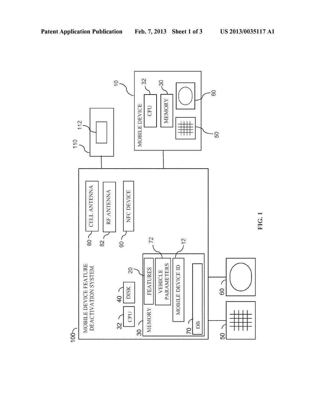 SYSTEM AND METHOD FOR RESTRICTING DRIVER MOBILE DEVICE FEATURE USAGE WHILE     VEHICLE IS IN MOTION - diagram, schematic, and image 02