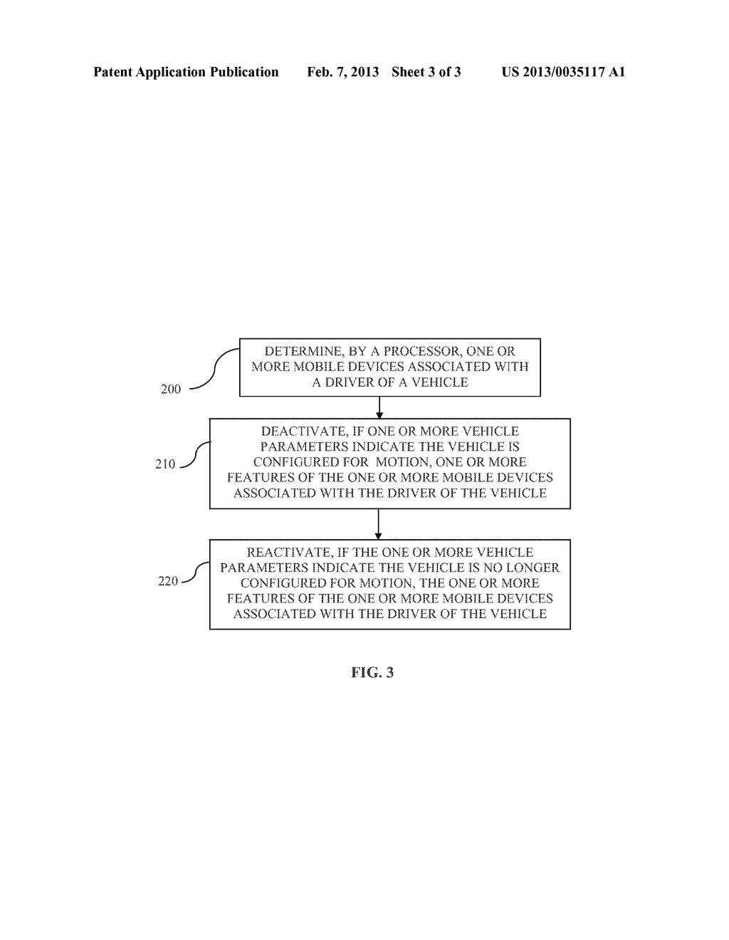 SYSTEM AND METHOD FOR RESTRICTING DRIVER MOBILE DEVICE FEATURE USAGE WHILE     VEHICLE IS IN MOTION - diagram, schematic, and image 04
