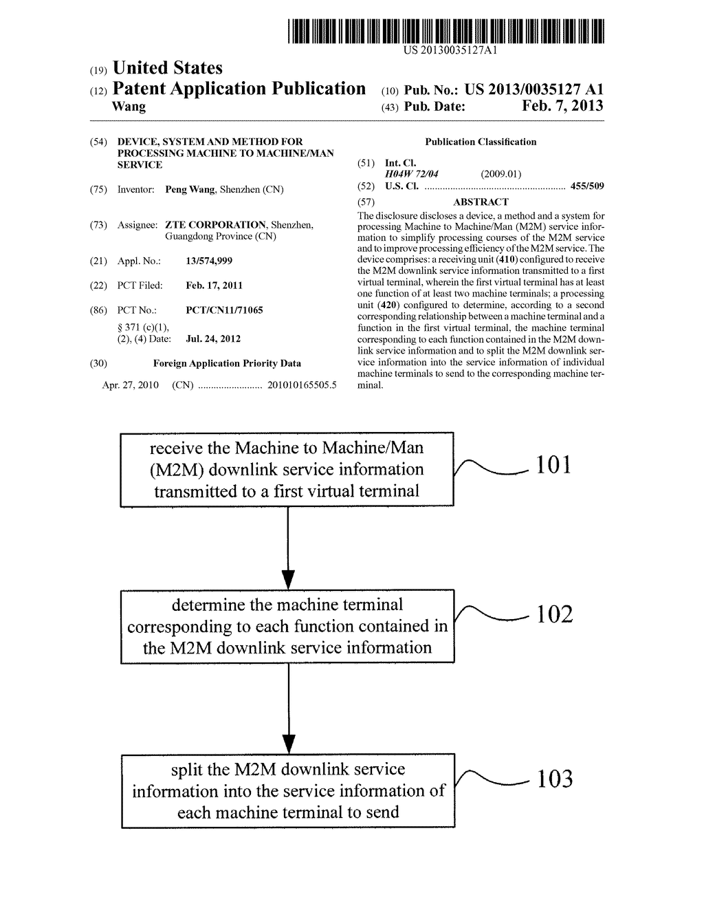 DEVICE, SYSTEM AND METHOD FOR PROCESSING MACHINE TO MACHINE/MAN SERVICE - diagram, schematic, and image 01