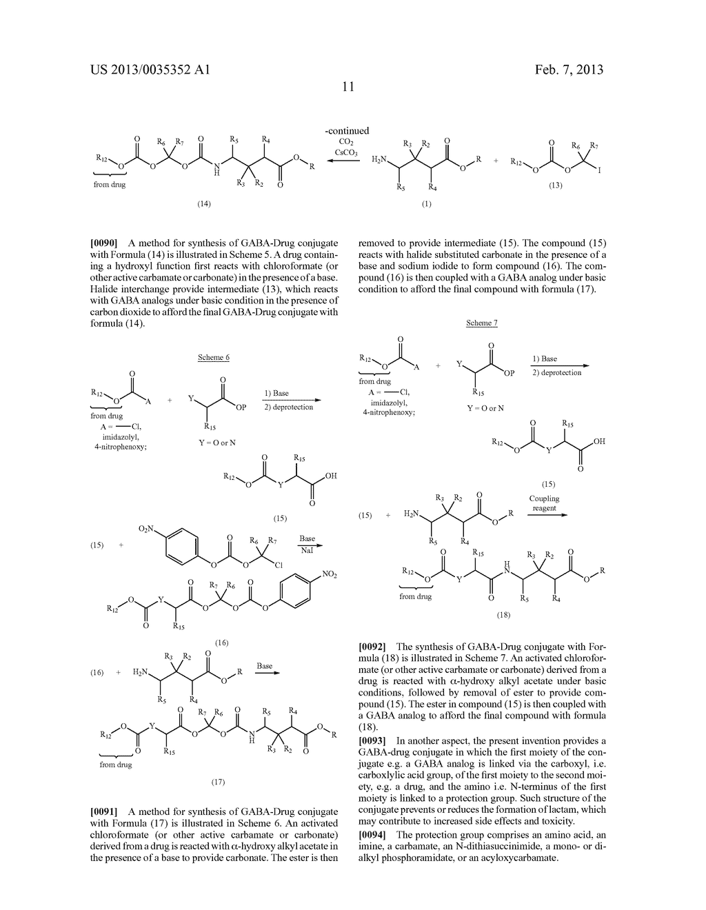 GABA CONJUGATES AND METHODS OF USE THEREOF - diagram, schematic, and image 12