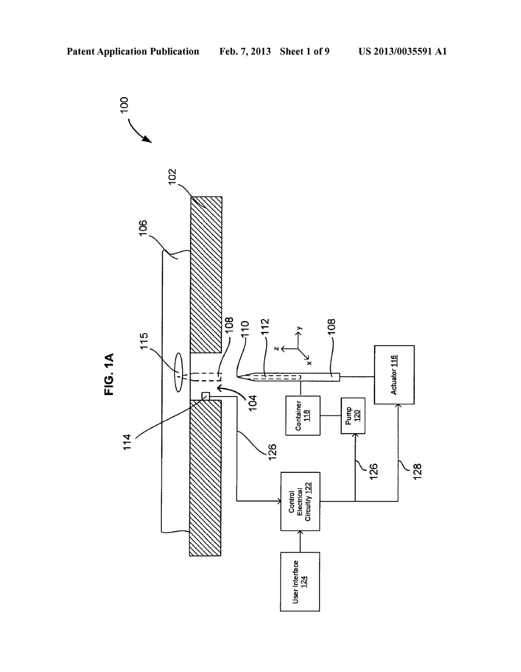 SYSTEMS AND METHODS FOR AUTOMATICALLY INSERTING A NEEDLE INTO A LIVING     SUBJECT - diagram, schematic, and image 02
