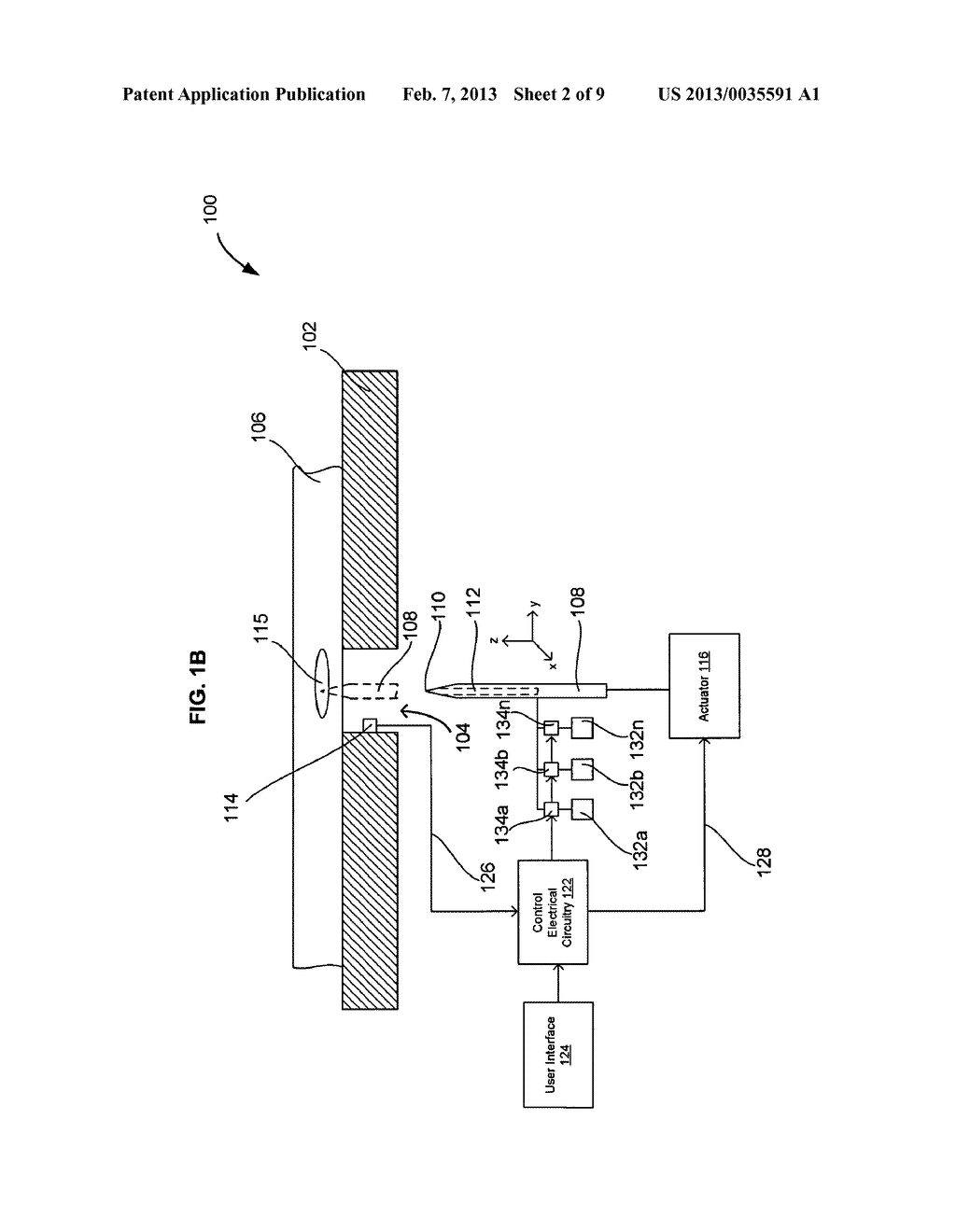 SYSTEMS AND METHODS FOR AUTOMATICALLY INSERTING A NEEDLE INTO A LIVING     SUBJECT - diagram, schematic, and image 03