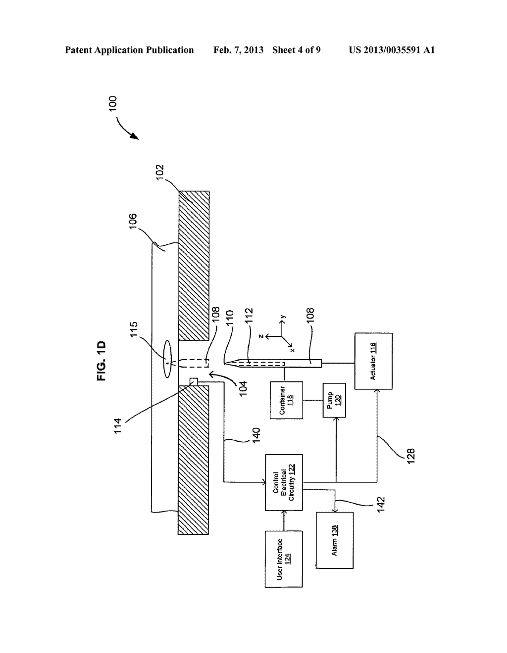 SYSTEMS AND METHODS FOR AUTOMATICALLY INSERTING A NEEDLE INTO A LIVING     SUBJECT - diagram, schematic, and image 05