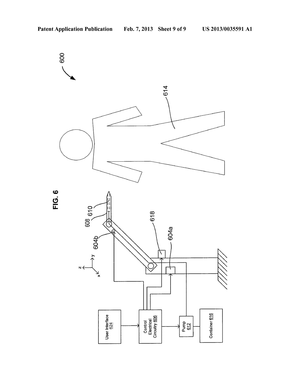 SYSTEMS AND METHODS FOR AUTOMATICALLY INSERTING A NEEDLE INTO A LIVING     SUBJECT - diagram, schematic, and image 10