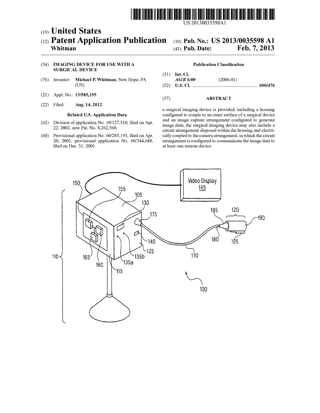 IMAGING DEVICE FOR USE WITH A SURGICAL DEVICE - diagram, schematic, and image 01