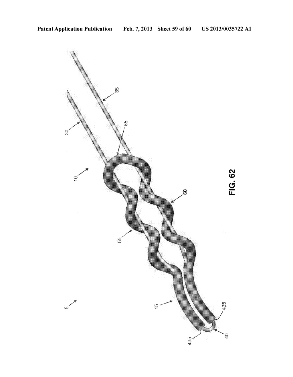 METHOD AND APPARATUS FOR SECURING AN OBJECT TO BONE, INCLUDING THE     PROVISION AND USE OF A NOVEL SUTURE ASSEMBLY FOR SECURING AN OBJECT TO     BONE - diagram, schematic, and image 60