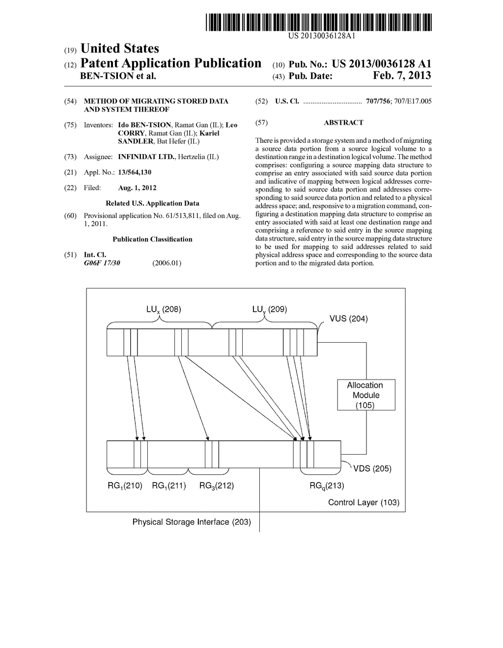 METHOD OF MIGRATING STORED DATA AND SYSTEM THEREOF - diagram, schematic, and image 01
