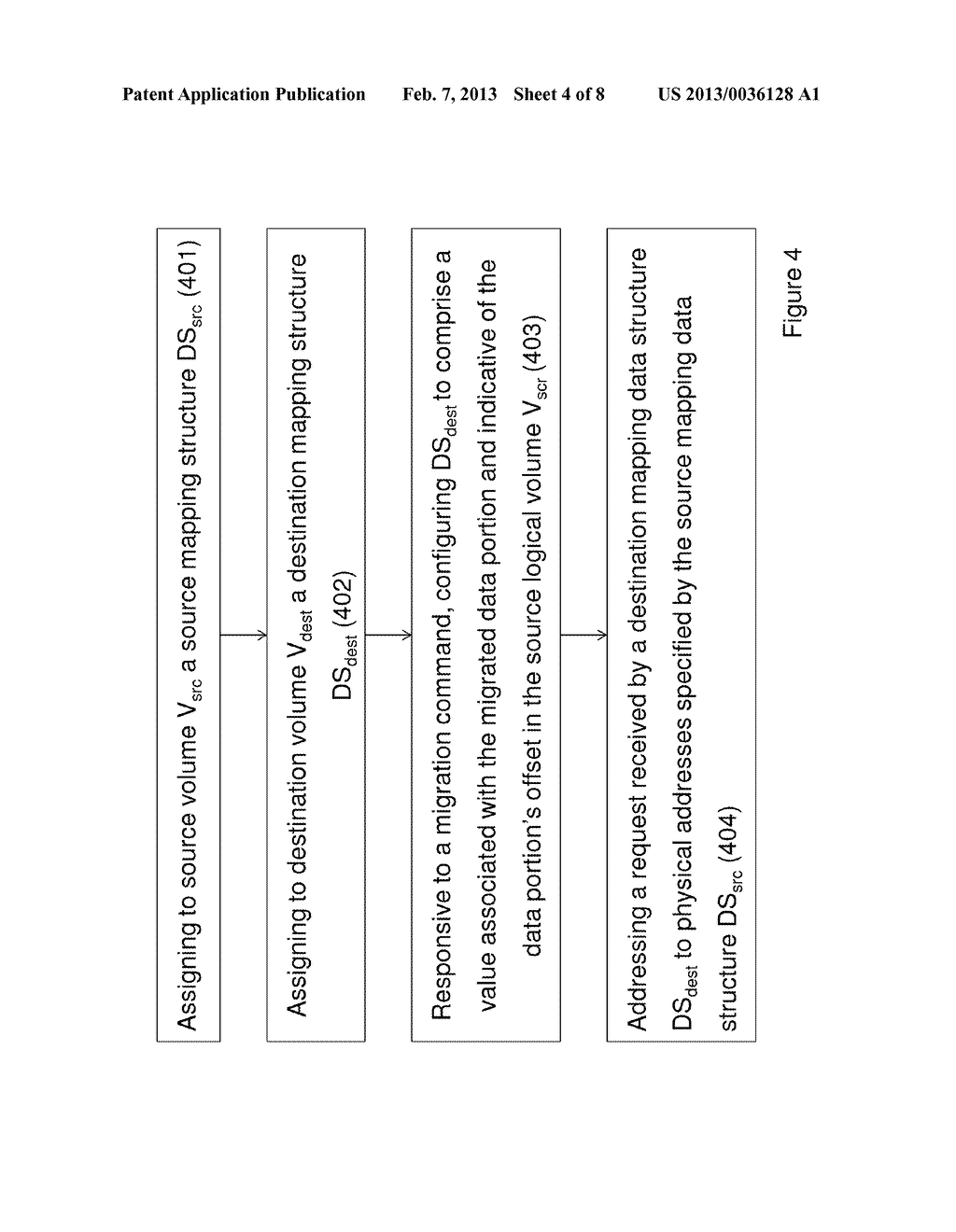 METHOD OF MIGRATING STORED DATA AND SYSTEM THEREOF - diagram, schematic, and image 05