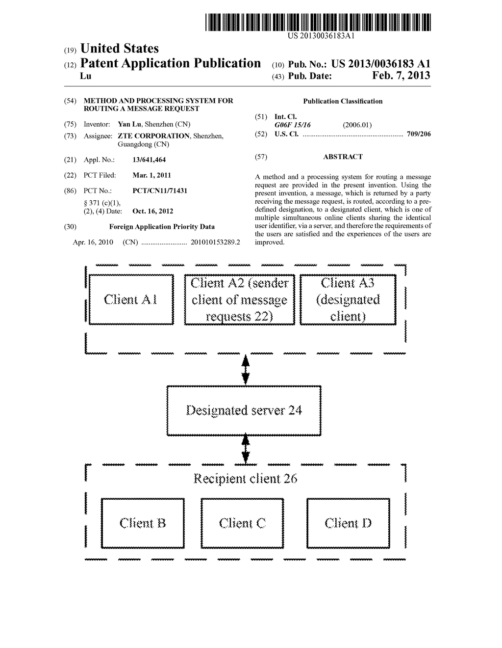 METHOD AND PROCESSING SYSTEM FOR ROUTING A MESSAGE REQUEST - diagram, schematic, and image 01