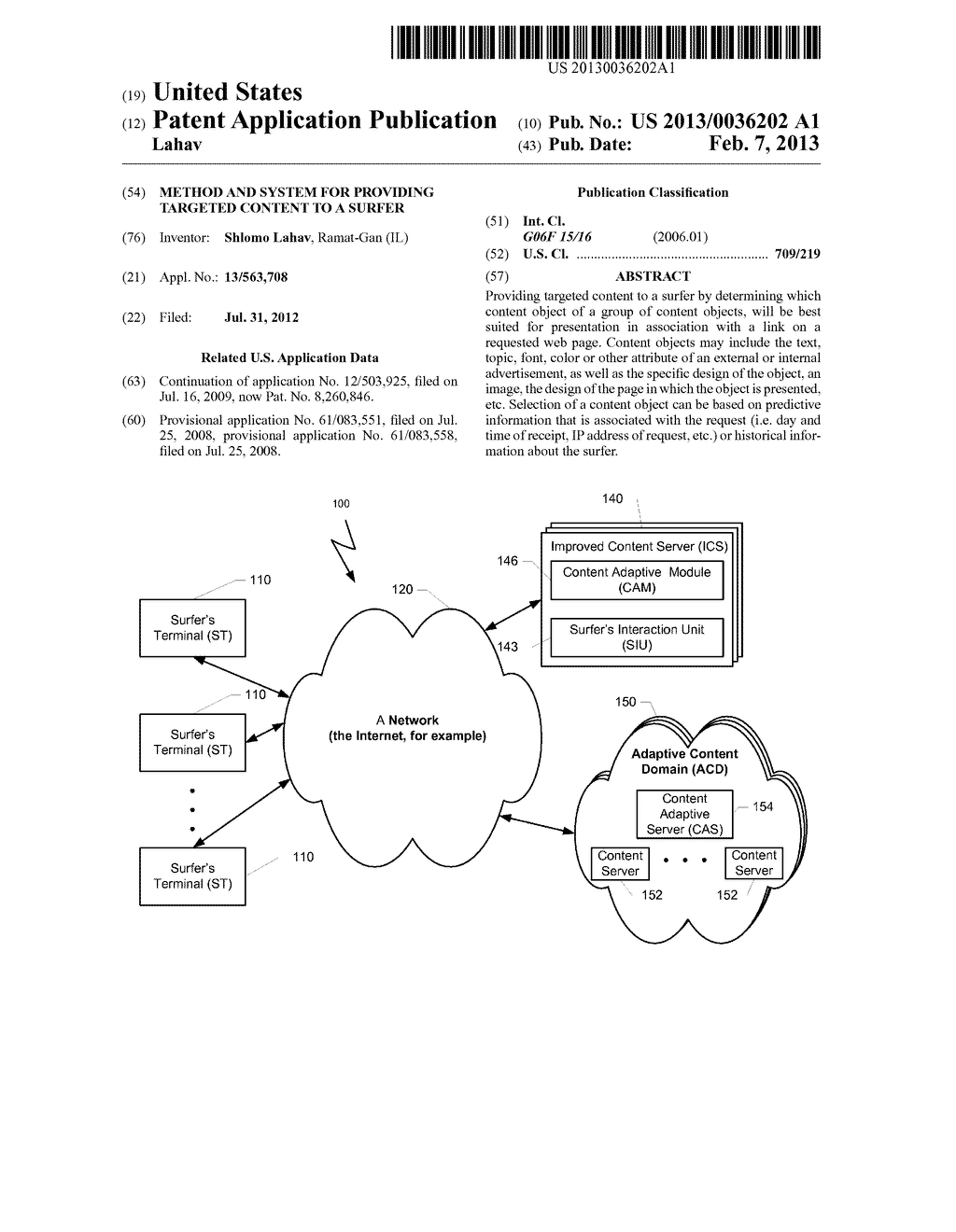 METHOD AND SYSTEM FOR PROVIDING TARGETED CONTENT TO A SURFER - diagram, schematic, and image 01