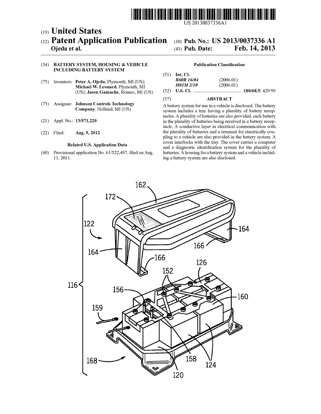 BATTERY SYSTEM, HOUSING & VEHICLE INCLUDING BATTERY SYSTEM - diagram, schematic, and image 01