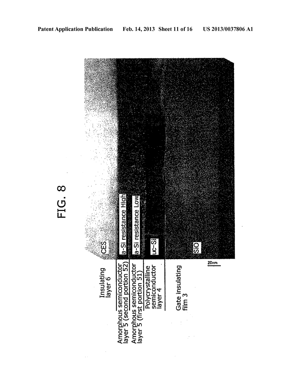 THIN-FILM SEMICONDUCTOR DEVICE AND METHOD OF MANUFACTURING THE SAME - diagram, schematic, and image 12