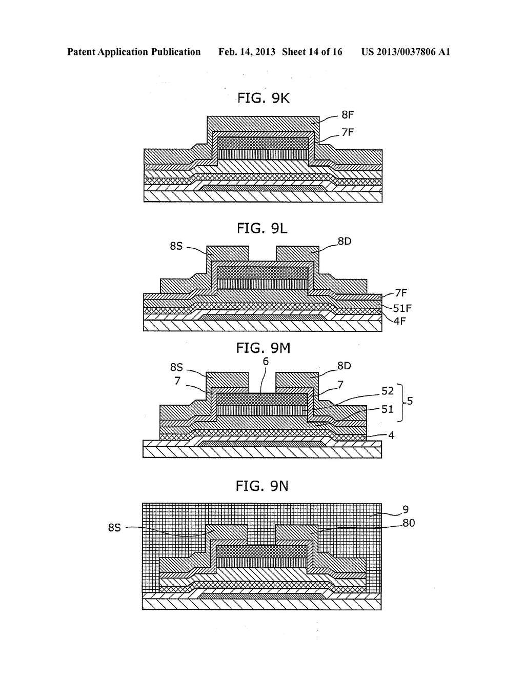 THIN-FILM SEMICONDUCTOR DEVICE AND METHOD OF MANUFACTURING THE SAME - diagram, schematic, and image 15