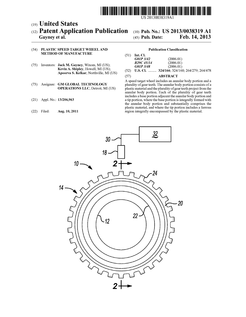 PLASTIC SPEED TARGET WHEEL AND METHOD OF MANUFACTURE - diagram, schematic, and image 01