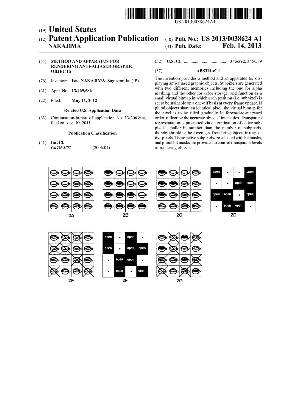 METHOD AND APPARATUS FOR RENDERING ANTI-ALIASED GRAPHIC OBJECTS - diagram, schematic, and image 01