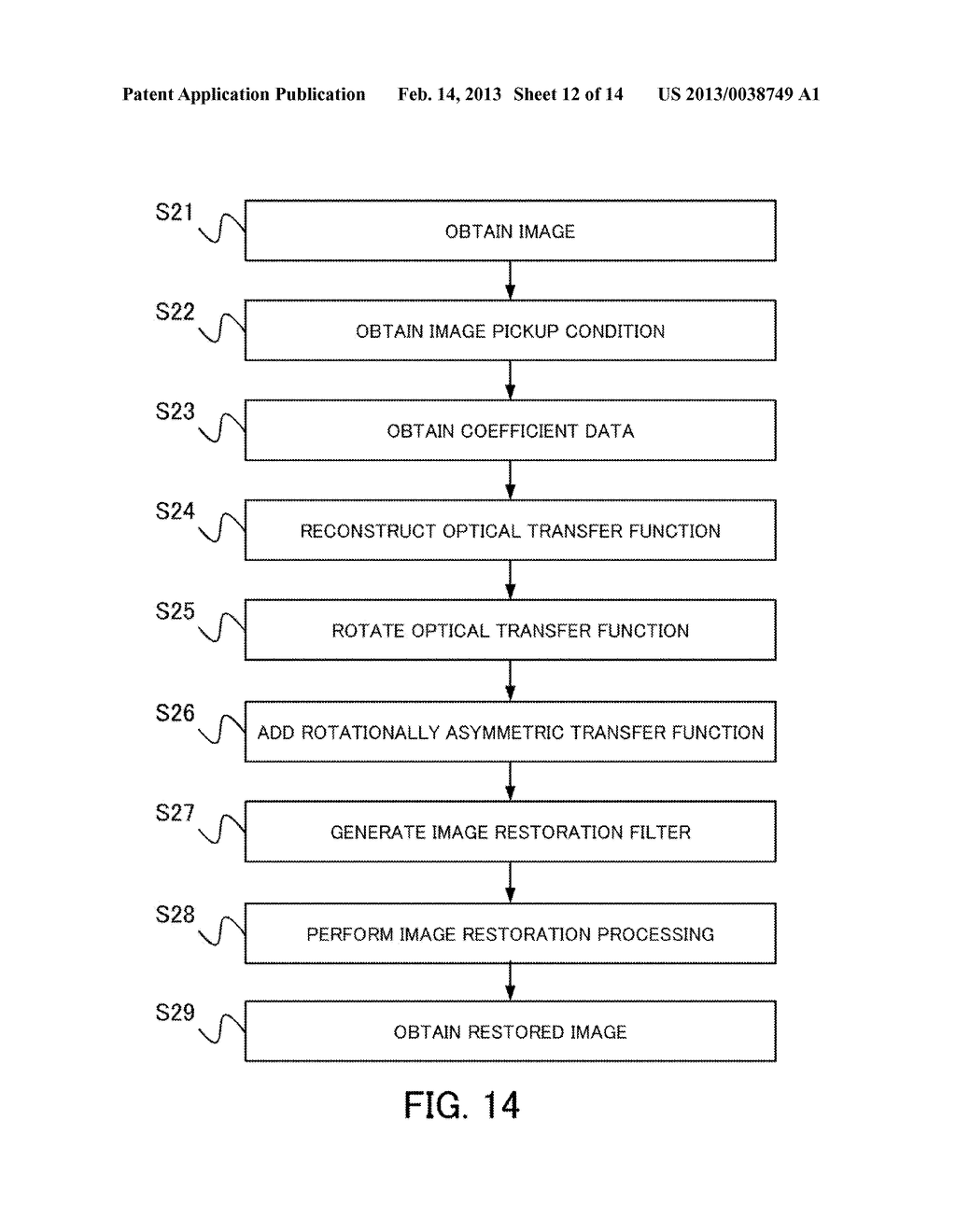 IMAGE PROCESSING METHOD, IMAGE PROCESSING APPARATUS, IMAGE PICKUP     APPARATUS, AND NON-TRANSITORY COMPUTER-READABLE STORAGE MEDIUM - diagram, schematic, and image 13