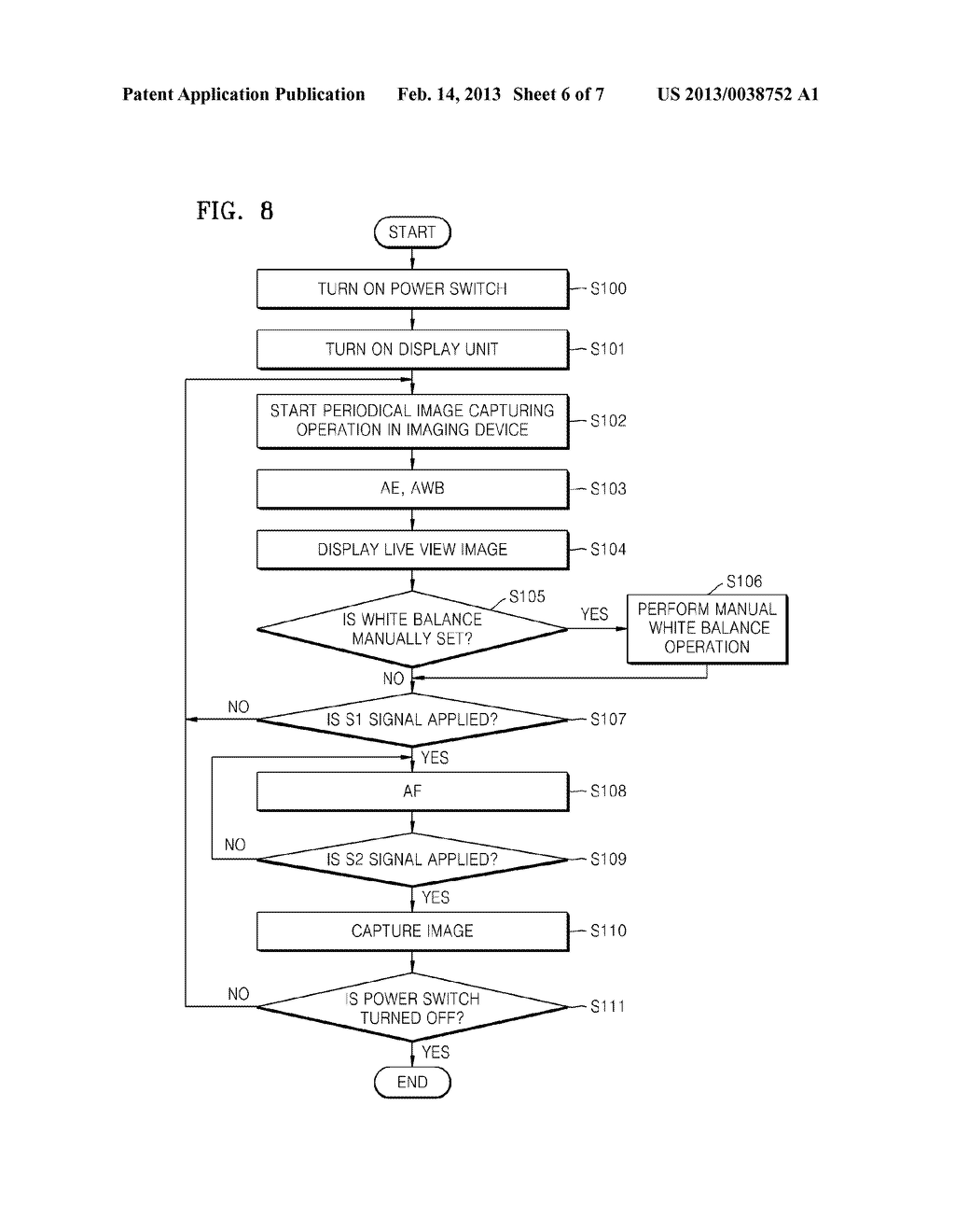 DIGITAL PHOTOGRAPHING APPARATUS AND METHOD OF CONTROLLING THE SAME FOR     SETTING A WHITE BALANCE - diagram, schematic, and image 07