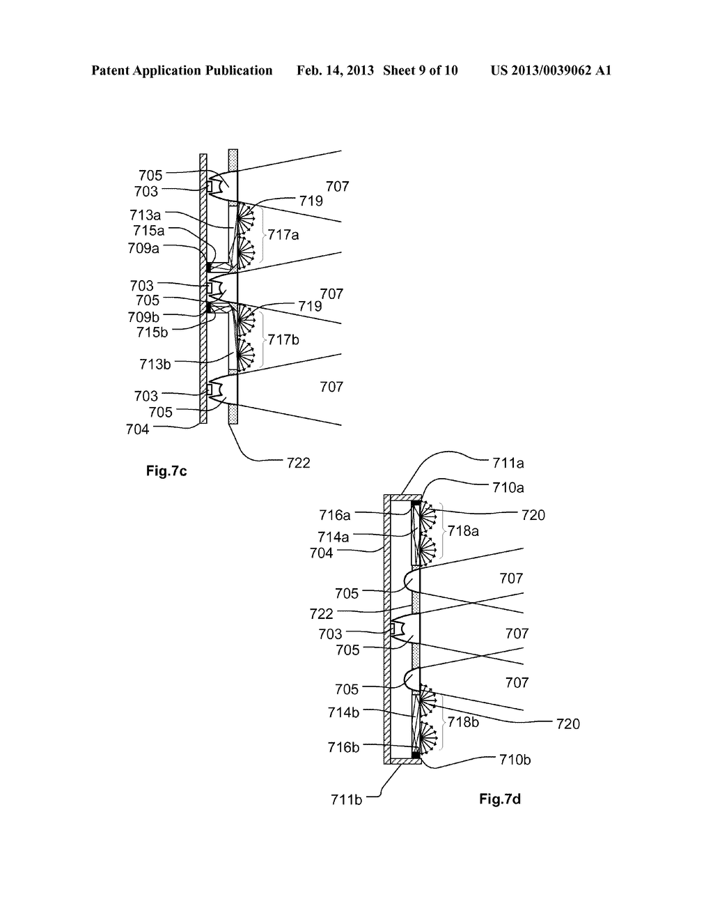 Light Fixture With Background Display Using Diffuse Pixels Between     Nondiffuse Light Sources - diagram, schematic, and image 10
