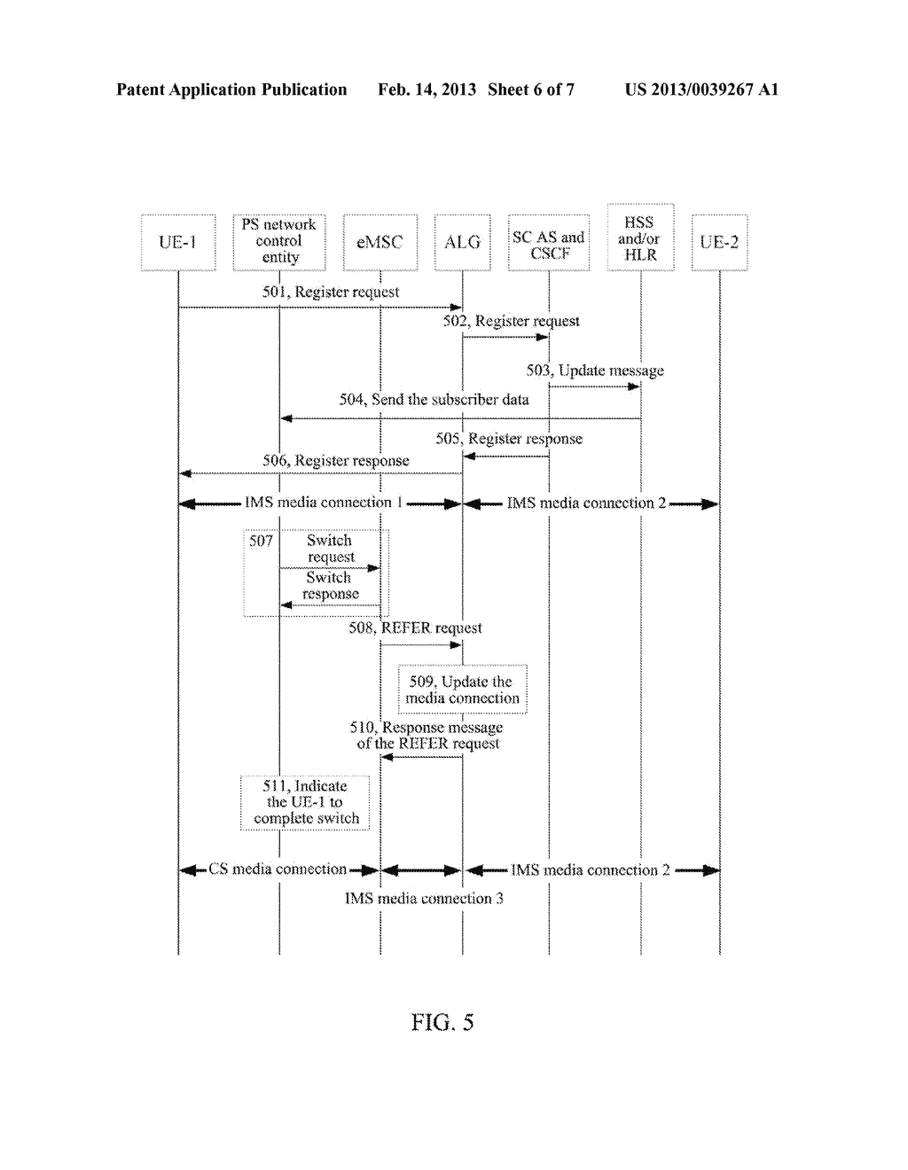 Method and System for Implementing Single Radio Voice Call Continuity - diagram, schematic, and image 07