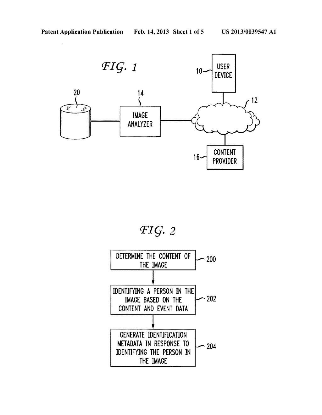 Method and Apparatus for Automated Analysis and Identification of a Person     in Image and Video Content - diagram, schematic, and image 02