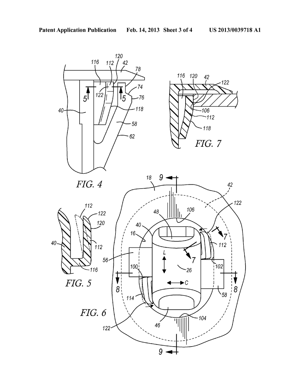 FASTENER ATTACHING A COMPONENT TO A PANEL - diagram, schematic, and image 04