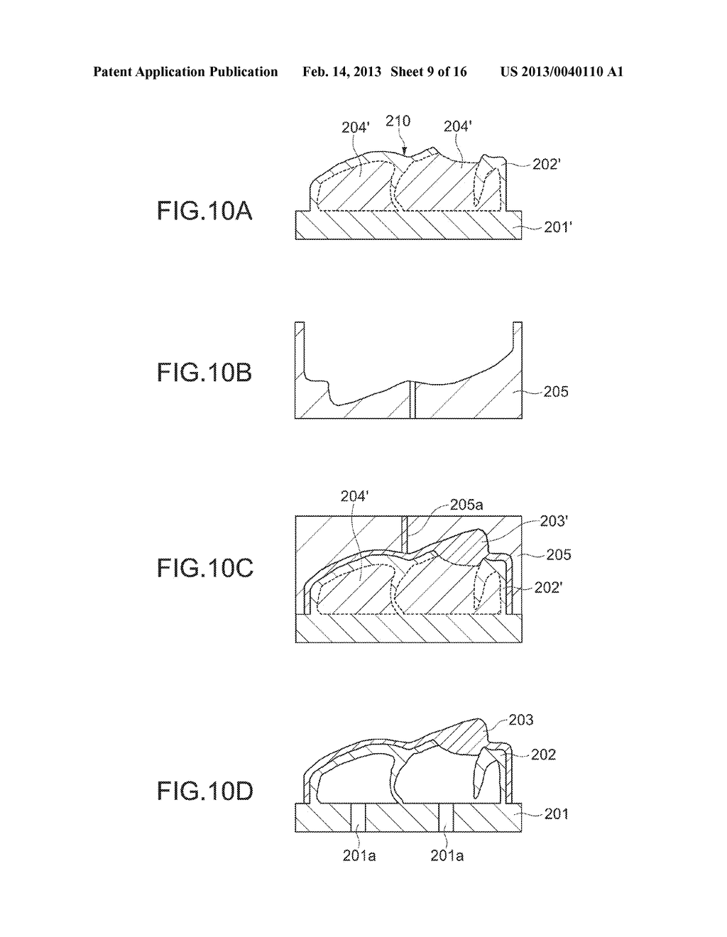 METHOD OF MANUFACTURING MOLDED OBJECT AND MOLDED OBJECT - diagram, schematic, and image 10
