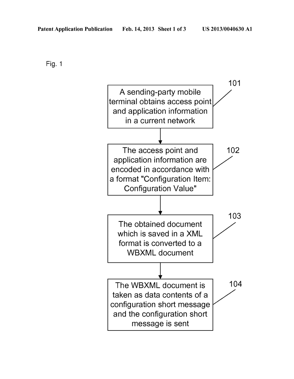 Method, system and mobile terminal for configuring access point and     application information - diagram, schematic, and image 02