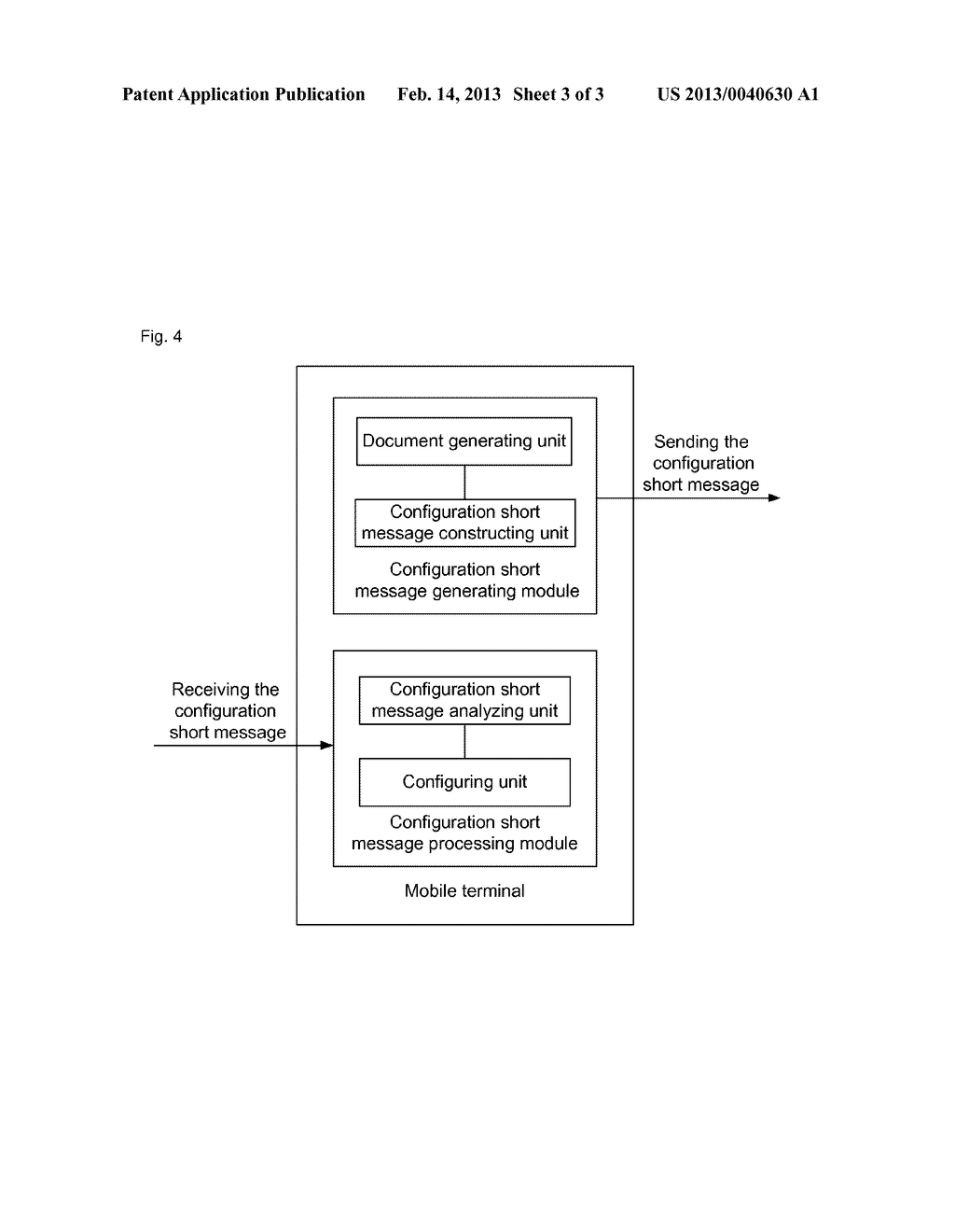 Method, system and mobile terminal for configuring access point and     application information - diagram, schematic, and image 04