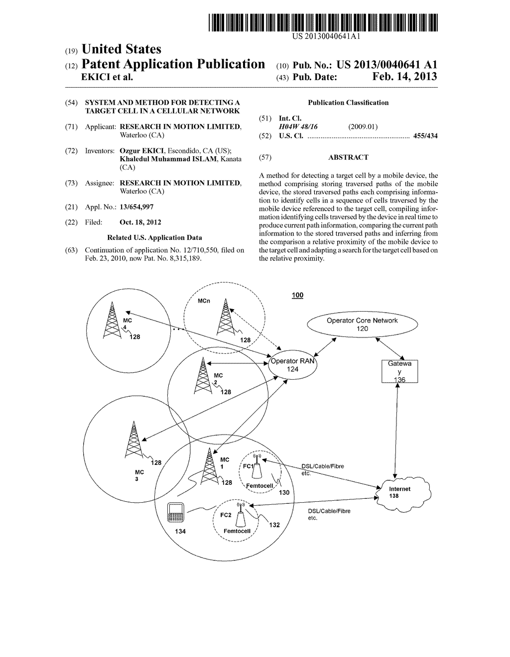 SYSTEM AND METHOD FOR DETECTING A TARGET CELL IN A CELLULAR NETWORK - diagram, schematic, and image 01