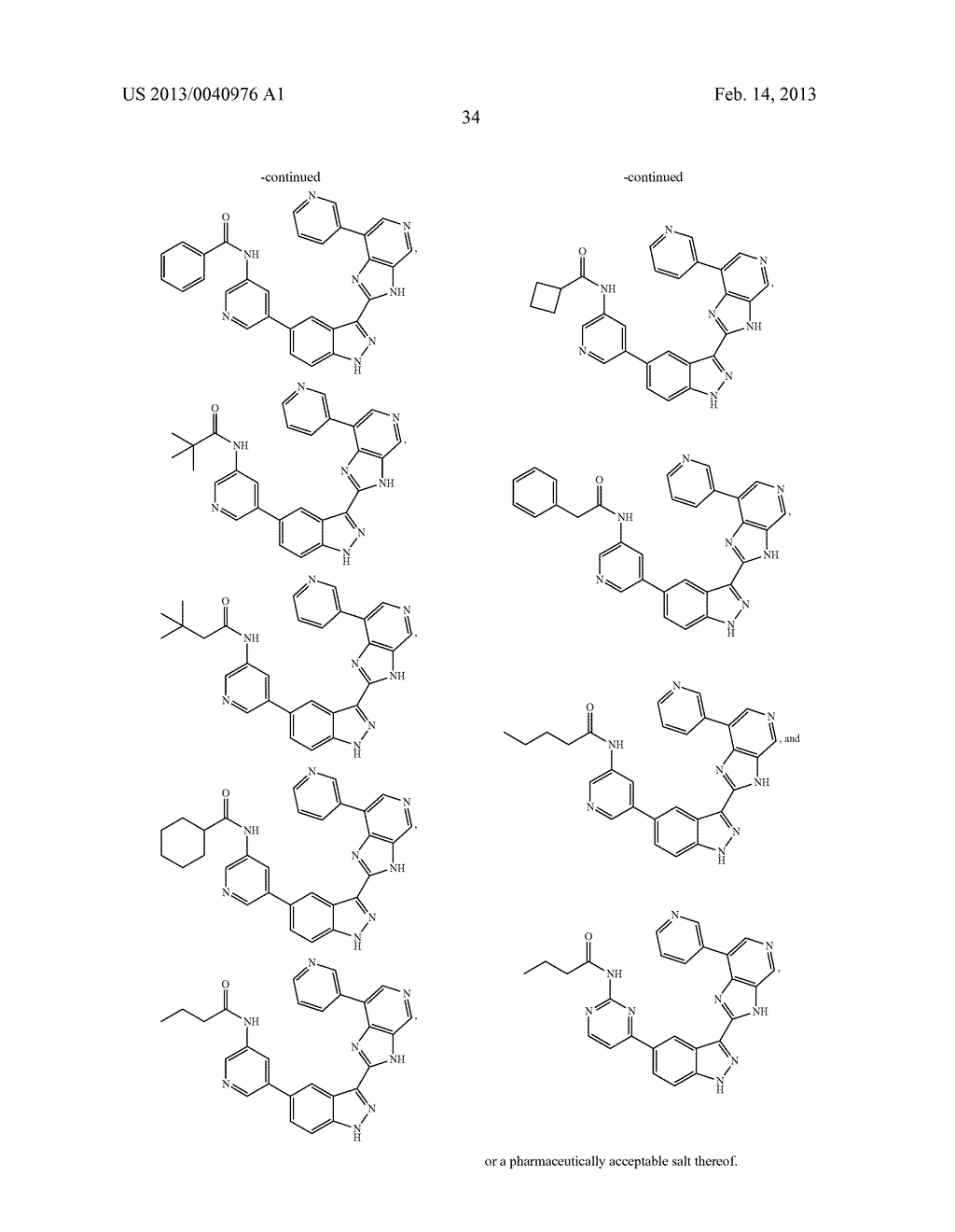 INDAZOLE INHIBITORS OF THE WNT SIGNAL PATHWAY AND THERAPEUTIC USES THEREOF - diagram, schematic, and image 35
