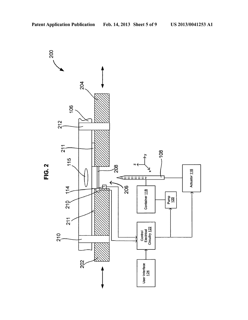 SYSTEMS AND METHODS FOR AUTOMATICALLY INSERTING A NEEDLE INTO A LIVING     SUBJECT - diagram, schematic, and image 06