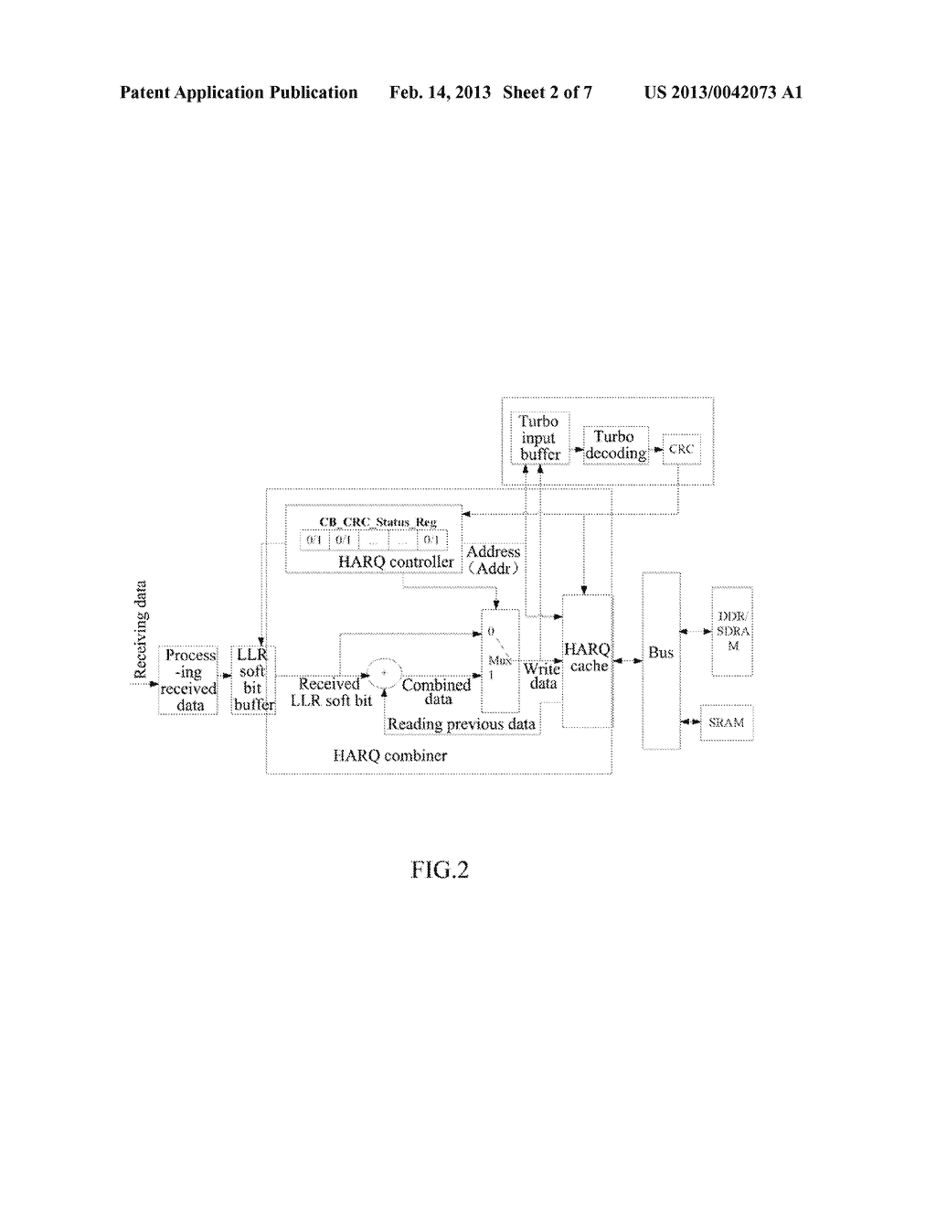 Hybrid Automatic Repeat Request Combiner and Method for Storing Hybrid     Automatic Repeat Request Data - diagram, schematic, and image 03