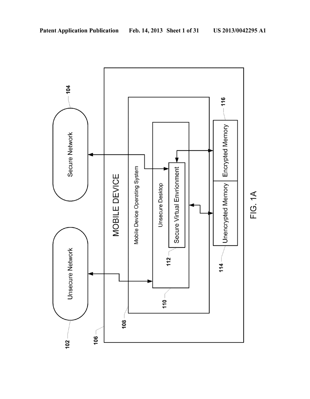 METHOD AND APPARATUS FOR PROVIDING A SECURE VIRTUAL ENVIRONMENT ON A     MOBILE DEVICE - diagram, schematic, and image 02