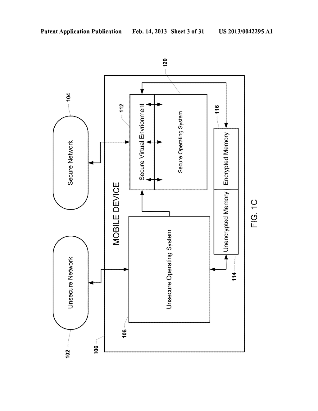 METHOD AND APPARATUS FOR PROVIDING A SECURE VIRTUAL ENVIRONMENT ON A     MOBILE DEVICE - diagram, schematic, and image 04