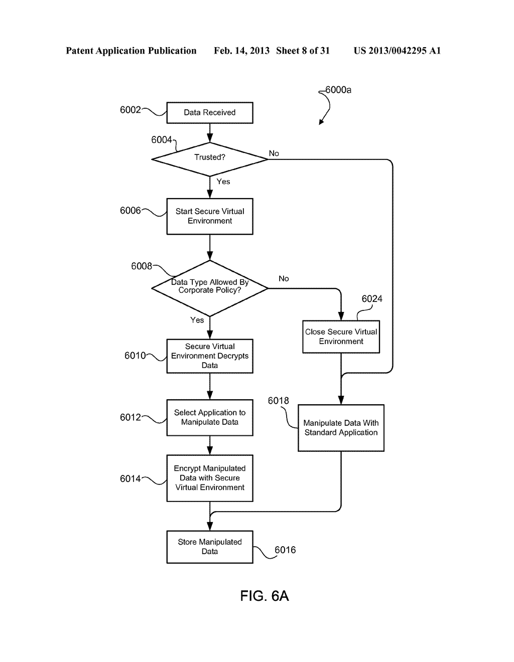 METHOD AND APPARATUS FOR PROVIDING A SECURE VIRTUAL ENVIRONMENT ON A     MOBILE DEVICE - diagram, schematic, and image 09