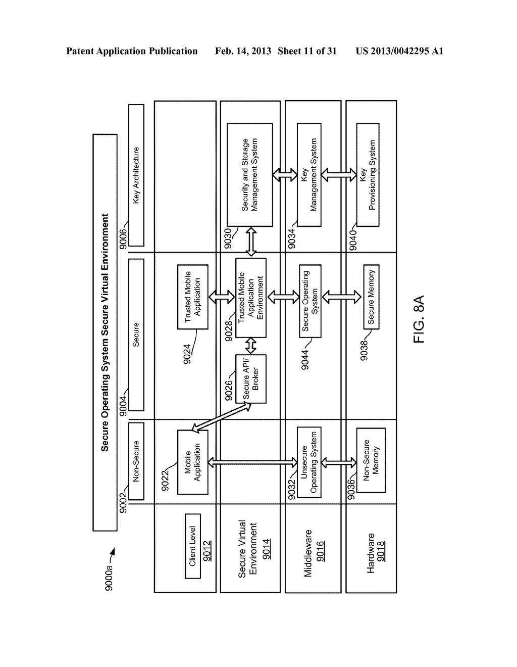 METHOD AND APPARATUS FOR PROVIDING A SECURE VIRTUAL ENVIRONMENT ON A     MOBILE DEVICE - diagram, schematic, and image 12