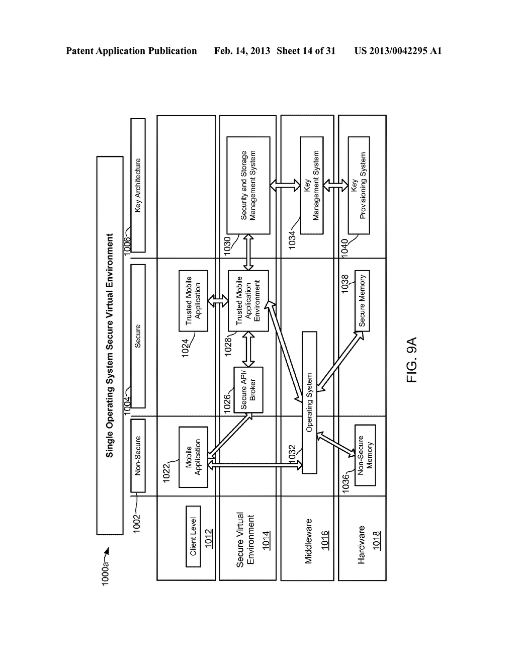 METHOD AND APPARATUS FOR PROVIDING A SECURE VIRTUAL ENVIRONMENT ON A     MOBILE DEVICE - diagram, schematic, and image 15