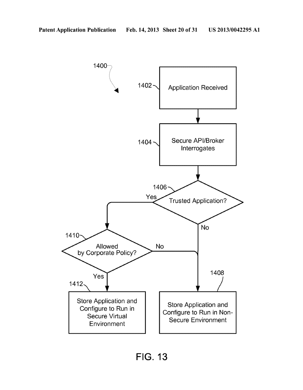 METHOD AND APPARATUS FOR PROVIDING A SECURE VIRTUAL ENVIRONMENT ON A     MOBILE DEVICE - diagram, schematic, and image 21