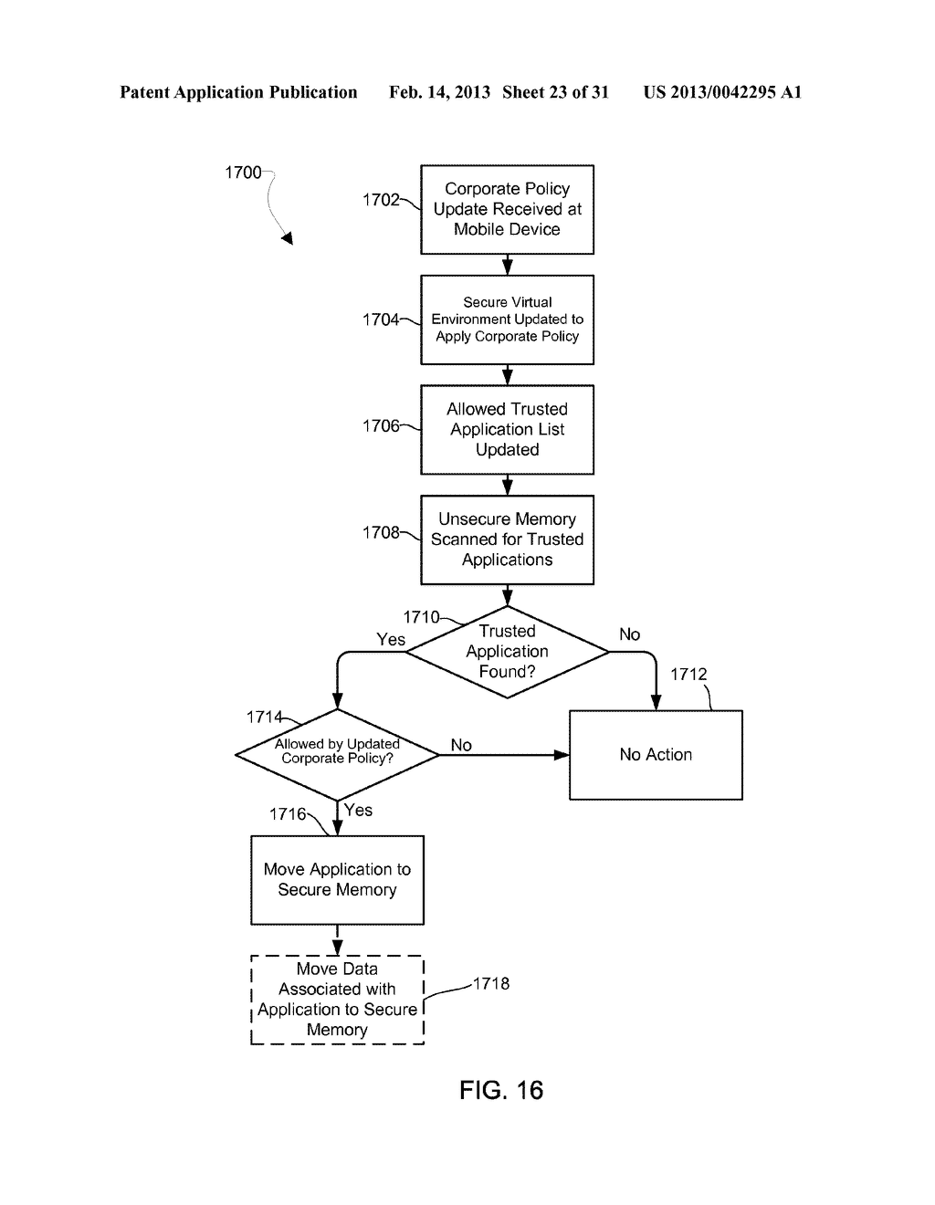 METHOD AND APPARATUS FOR PROVIDING A SECURE VIRTUAL ENVIRONMENT ON A     MOBILE DEVICE - diagram, schematic, and image 24