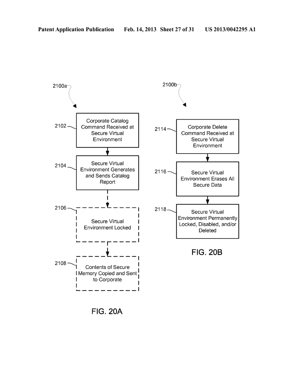 METHOD AND APPARATUS FOR PROVIDING A SECURE VIRTUAL ENVIRONMENT ON A     MOBILE DEVICE - diagram, schematic, and image 28