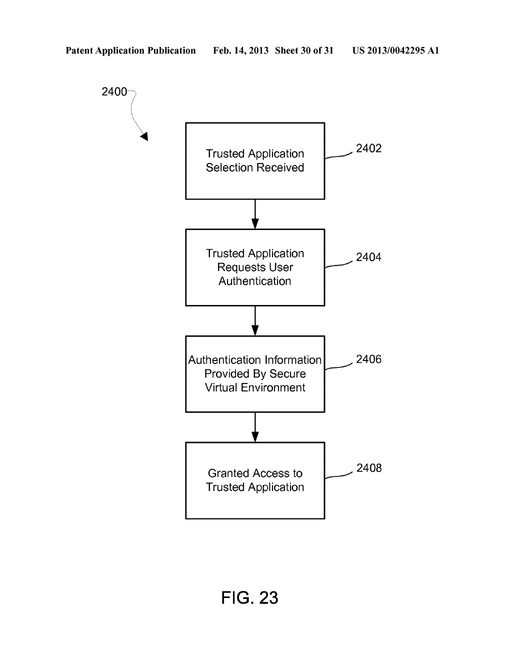 METHOD AND APPARATUS FOR PROVIDING A SECURE VIRTUAL ENVIRONMENT ON A     MOBILE DEVICE - diagram, schematic, and image 31