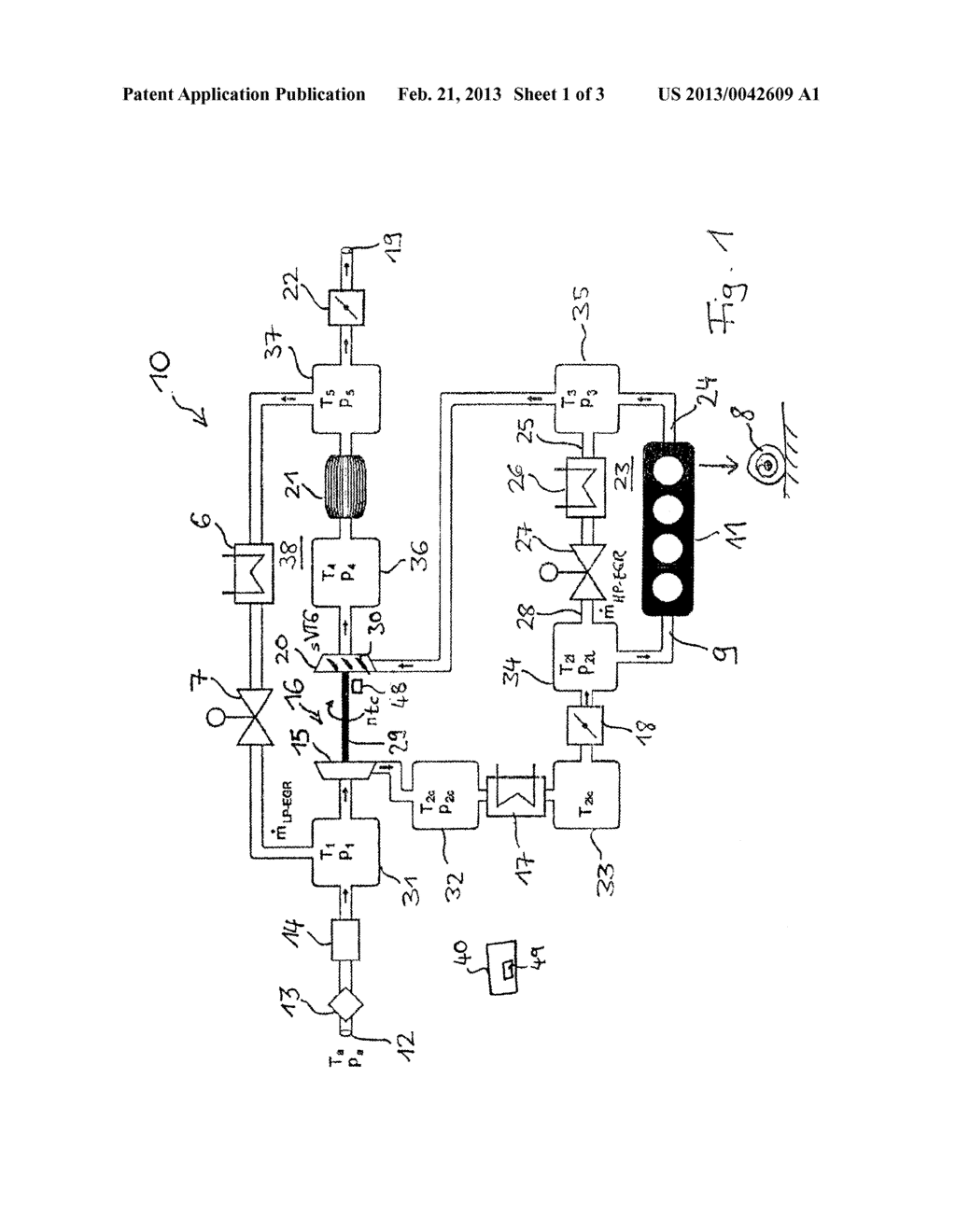 UNIT FOR ESTIMATING THE ROTATIONAL SPEED OF A TURBOCHARGER AND SYSTEM AND     METHOD FOR CONTROLLING AN INTERNAL COMBUSTION ENGINE WITH A TURBOCHARGER - diagram, schematic, and image 02