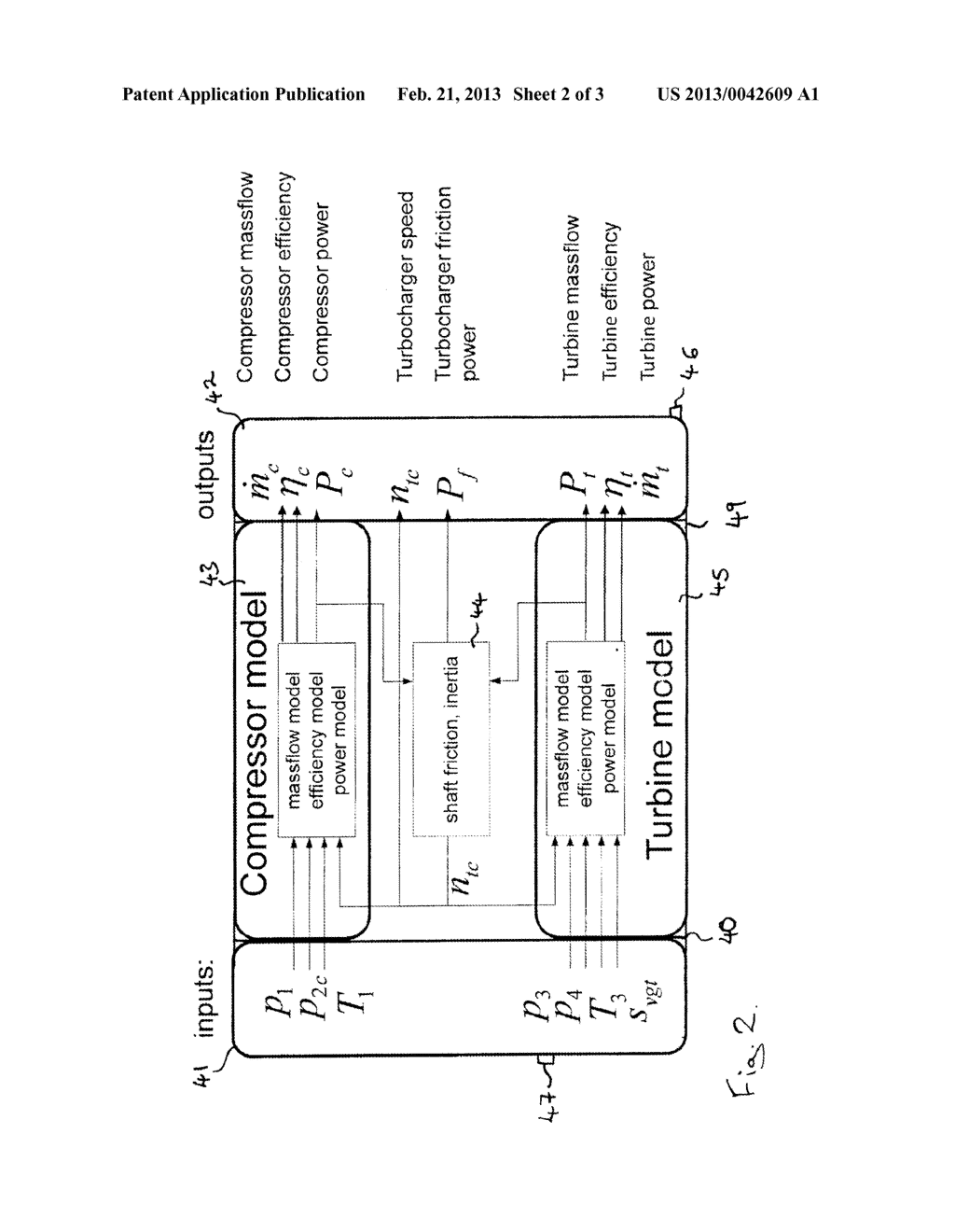 UNIT FOR ESTIMATING THE ROTATIONAL SPEED OF A TURBOCHARGER AND SYSTEM AND     METHOD FOR CONTROLLING AN INTERNAL COMBUSTION ENGINE WITH A TURBOCHARGER - diagram, schematic, and image 03
