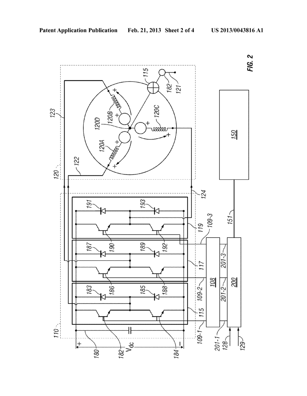 METHODS, SYSTEMS AND APPARATUS FOR CONTROLLING A MULTI-PHASE INVERTER - diagram, schematic, and image 03
