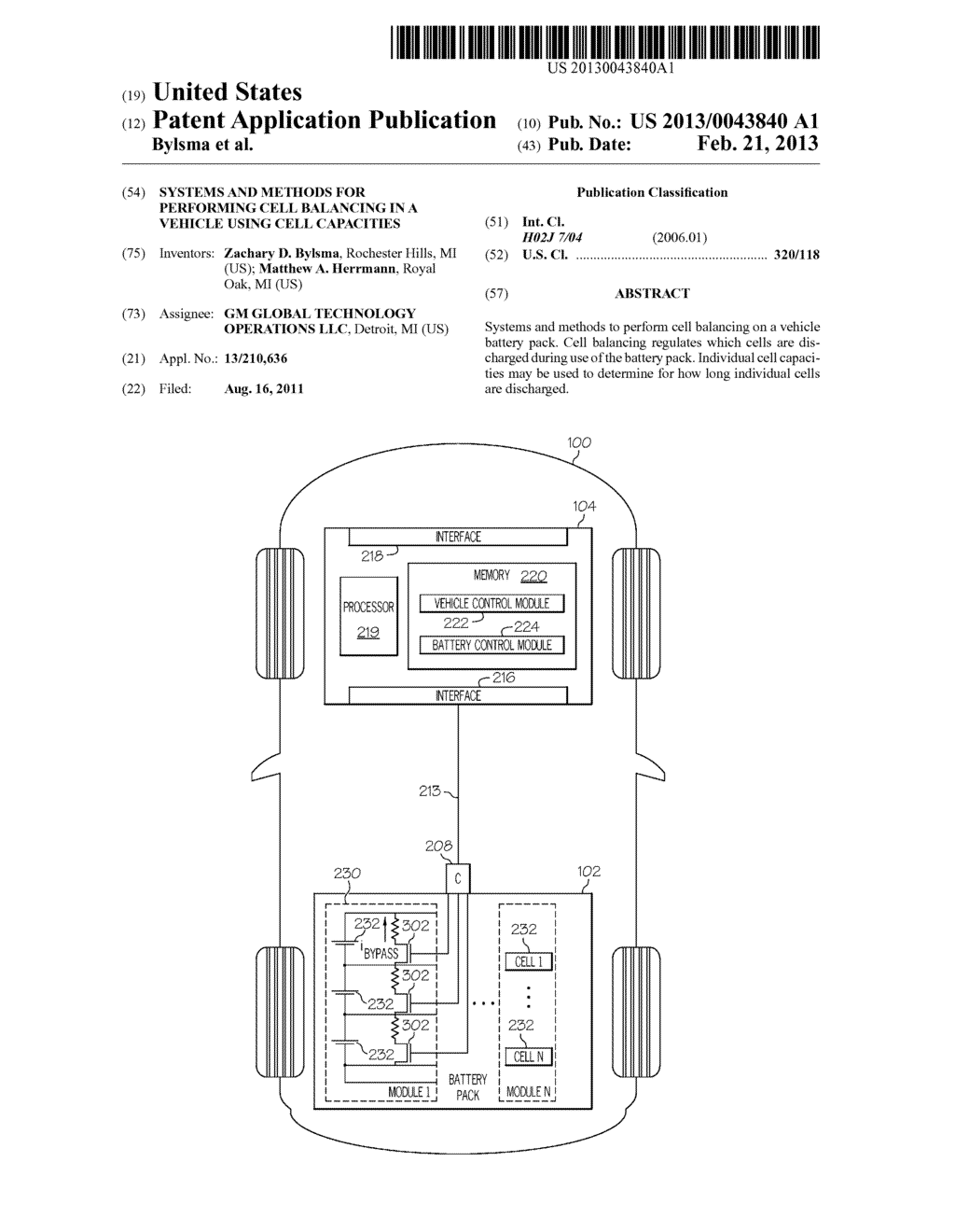 SYSTEMS AND METHODS FOR PERFORMING CELL BALANCING IN A VEHICLE USING CELL     CAPACITIES - diagram, schematic, and image 01