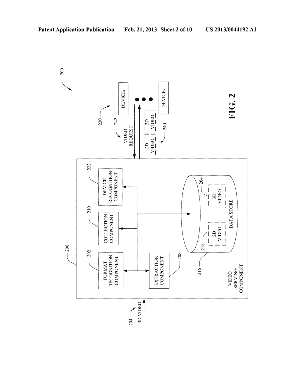 CONVERTING 3D VIDEO INTO 2D VIDEO BASED ON IDENTIFICATION OF FORMAT TYPE     OF 3D VIDEO AND PROVIDING EITHER 2D OR 3D VIDEO BASED ON IDENTIFICATION     OF DISPLAY DEVICE TYPE - diagram, schematic, and image 03