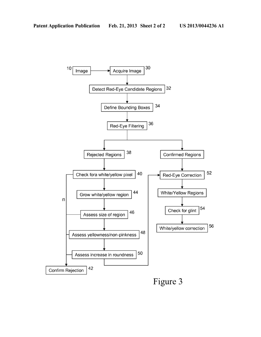 Method and Apparatus of Correcting Hybrid Flash Artifacts in Digital     Images - diagram, schematic, and image 03