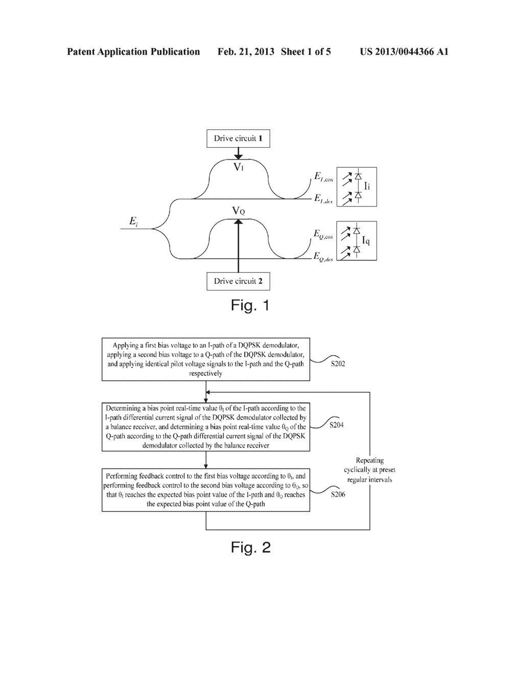 METHOD AND APPARATUS FOR CONTROLLING BIAS POINT OF DIFFERENTIAL QUADRATURE     PHASE SHIFT KEYING DEMODULATOR - diagram, schematic, and image 02